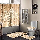 tappetini da Bagno Ruibuy Tenda da Doccia Natalizia con Ganci Decorazioni Natalizie per Bagno Antiscivolo Confezione da 4 tappetini sagomati coprisedile per Tappetino WC
