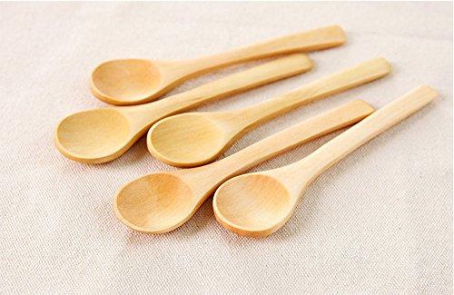dealglad® 5× Kleine Holz Honig Kaffee Tee Würze Zucker Salz Marmelade senf Eis Suppenlöffel Küchenutensilien Tools