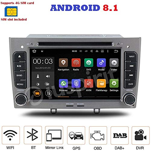 Android 7.14g Lte GPS DVD USB SD Wifi Radio 2Din navegador Peugeot...