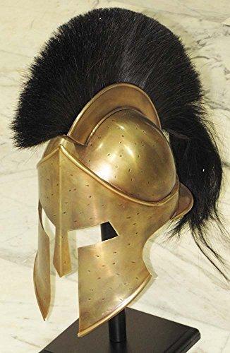 MEDIEVAL SPARTAN HELMET KING LEONIDAS 300 MOVIE HELMET REPLICA - ROLE PLAY HELM by Shiv Shakti (Spartan Helm Kostüm)