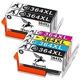 Fituwork 6PK (3B1C1Y1M) Cartuchos de tinta compatibles para 364XL 364 XL Uso en HP Photosmart 5510 5511 5512 5514 5515 5520 5522 6520 6515 7510 7520 7515 B8550 B8558 B110c B010a C5370 C5383