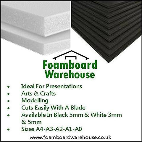 A2 Black Foamboard 5mm 420 x 594mm (5 Sheets)