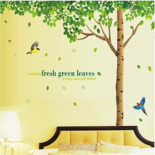 Natürliche Grüne Schatten Wandaufkleber Für Wohnzimmer, Zeigen Die Vitalität Der Natur, Ruhe Ist Für Ein Besseres Gefühl Geeignet YUJIANF (Der Ruhe Natur)
