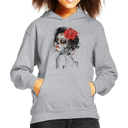 Cloud City 7 Dia De Los Muertos Day of The Dead Kid's Hooded Sweatshirt