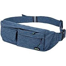 EOTW Riñoneras para llevar pasaporte, cargador, gafas de sol y teléfonos hasta 6 pulgadas ,Cinturón deportivo Perfecto para viajar, comprar, encalada, caminar con el perro, correr, ciclismo.