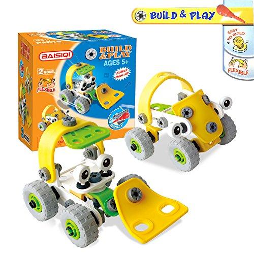 Joy-Jam Montage Spielzeug 5-8 Jährige Baukasten Konstruktionsspielzeug Building Kit Zusammengesetzte Vorbildliche Karikatur Spielzeug Fahrzeuge Weihnachten Geburtstagsgeschenke