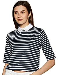 Miss Chase Women's Striped Regular fit Top