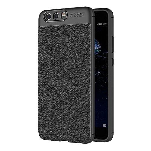 AICEK Cover Huawei P10 Plus, Nero Custodia Huawei P10 Plus Silicone Molle Black Cover per Huawei P10 Plus Soft TPU Case (5.5 Pollici)