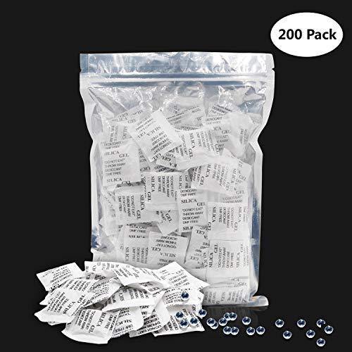 DOCA Desiccant Beutel 1 x 200g Beutel mit Trockenmittel Luftentfeuchter Beutel für kleine Kleiderschrank Schrank Stauraum mit Absorber Silicagel-Säckchen, Entziehen Feuchtigkeit Gerüche