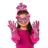 Lucy Locket–Kit Kostüm Prinzessin, Tiara, Maske und Handschuhe (3–8Jahre)