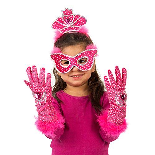 Lucy Locket-Kit Kostüm Prinzessin, Tiara, Maske und Handschuhe (3-8Jahre)