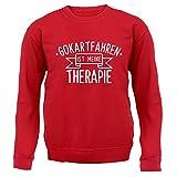 Gokartfahren ist meine Therapie - Kinder Pullover/Sweatshirt - Rot - XXL (12-13 Jahre)