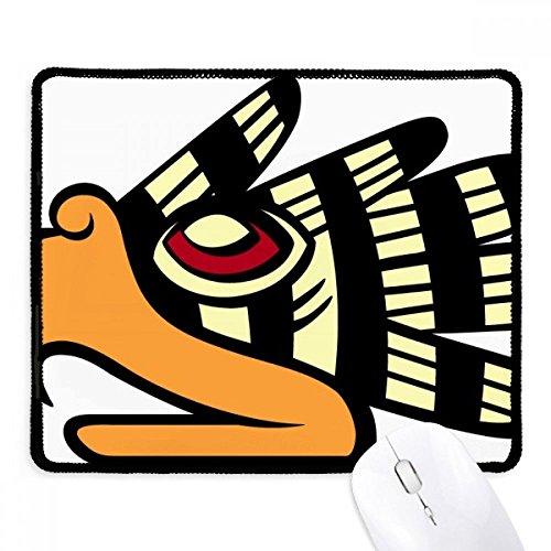diythinker indischen abstrakte Kunst Zeichnen Eagle Head rutschfeste Mauspad Spiel Office schwarz titched Kanten Geschenk (Head Eagle Indian)