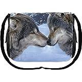 Maulkorb Nuzzle Zwei Wolf Messenger Tasche-40cm-Daniel Smith-Nemesis Now