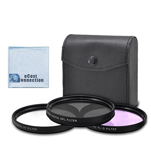 77mm High resolution Pro series Multi Coated HD 3 Pc. Digital Filter Set for Nikon AF-S Nikkor 70-200mm f/2.8G ED VR II Lens AF-S NIKKOR 28-300mm f/3.5-5.6G ED VR Zoom Lens 10-24mm f/3.5-4.5G ED AF-S DX Zoom-Nikkor Lens AF-S NIKKOR 80-400mm f/4.5-5.6G ED VR Lens and More Models + eCost Microfiber Cloth  available at amazon for Rs.2947