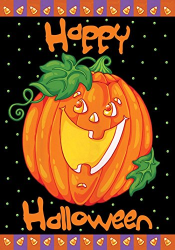 �cm Deko Happy Halloween Jack O Laterne Kürbis Candy Corn Garten Flagge (Jack O Laternen Ideen)