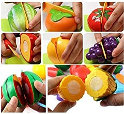 Jannat Fruit Party Food Heaven Vegetable Fruit Choppingkit Knife (Set of 8 Pcs ) for Kids