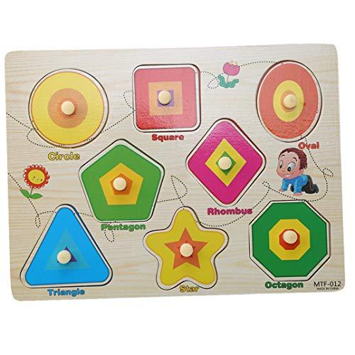 JOOFFF Tier-Puzzle, klassisches Lehr-Spielzeug, Zahlen, Obstbuchstaben, Form Grasland Bauernhof, Handgreifbrett, Spielzeug, Lern- und Lern-Geschenke für Kinder