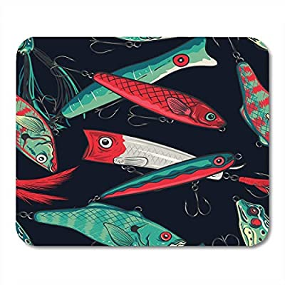Mouse Pads Abstract Colorful Anchor Fishing Lures Water Bait Mouse Pad by U-Only