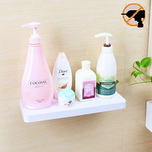 Fealkira Saugnapf Hängeregal Badezimmer Dusche Rack, einfach Installation für Küche/Dusche & Wohnzimmer/Büro (keine Nägel keine Werkzeuge), weiß -
