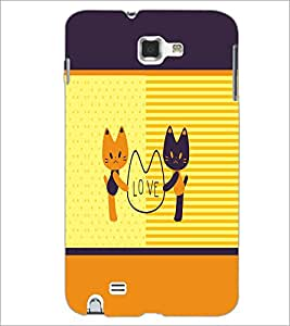PrintDhaba Love D-1373 Back Case Cover for SAMSUNG GALAXY NOTE 1 (Multi-Coloured)