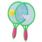 Sharplace 4 Stück Tennisspiel Set - Tennisschläger + Bälle - Spielzeug für Kinder Outdoor Sport Spiel - Mittel