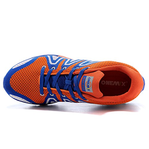 ONEMIX Scarpe da Ginnastica Uomo Corsa su Strada Air Trail Running Arancione / blu