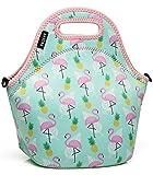 VASCHY Lunch Tasche Isoliertasche Kühltasche Lunchtasche Flamingo Thermische...