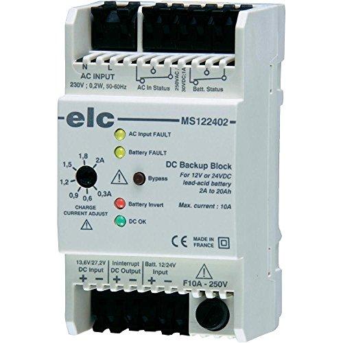 Module de secours 12 ou 24 V jusqu'à 20 Ah ELC MS122402