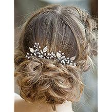 Aukmla - Forcine per capelli per spose e damigelle, adatte per look eleganti e casual (confezione da 2 pezzi)