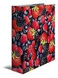 Herma 7112 Karton Motivordner DIN A4, Serie Früchte, Design Waldbeeren, 70 mm breit, 1 Ordner, mit Innendruck