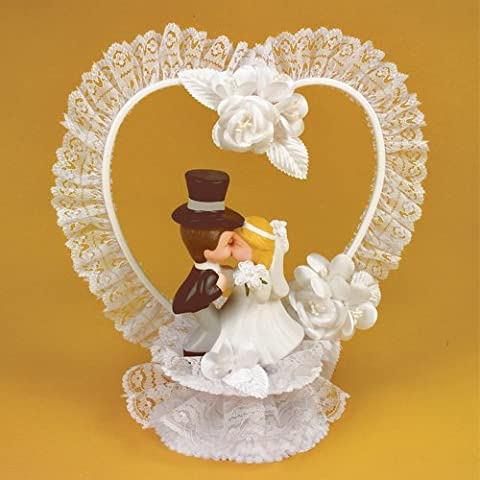Kissing In Porcellana sposi - Sposo In Porcellana Wedding Cake Topper