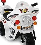 Toyas Kindermotorrad Polizei Motorrad in Weiß - 2