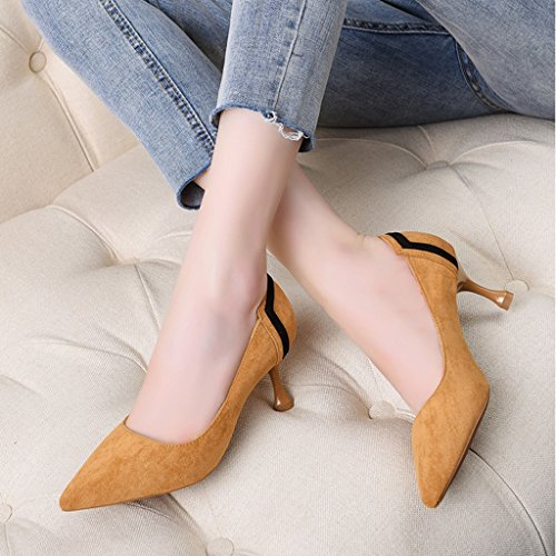 f79c6b402a57ae Hwf Chaussures Femme Chaussures À Talons Hauts Chaussures À Lacets Mi-talon  Chaussures Femme Talons ...