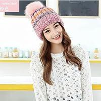 Wenxin0815 Damen Winter Mütze Strickmütze Cap Ohr Schutzkappe Hat
