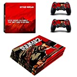 CIVIQ Red Dead Redemption 2 PS4 Pro Skin Sticker Decal pour Sony PS4 Playstation 4 Pro Console et 2 Controllers Skins Sticker Vinyl
