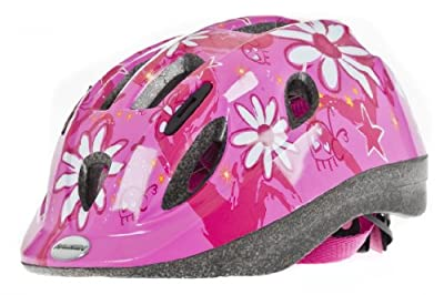 Raleigh Mystery Pink Flower Girls Cycle Helmet