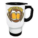Oktoberfest Deutschland Bier Weiß Thermischer Reisebecher 14oz 400ml Becher Tasse o745tw