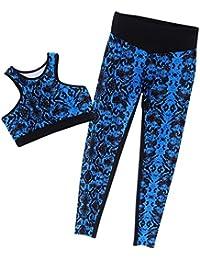 Minetom Chándales Mujer 2 Pcs Jogging Yoga Sportswear Outfits Damas Ropa De Deporte Traje Deportivo Moda Casual Bra Chaleco + Pantalones