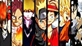 #6: Mahalaxmi Art Anime Aluffy Gohan Naruto Bleach One Piece Dragon Ball Wall Poster Poster Print On 13X19 Inches