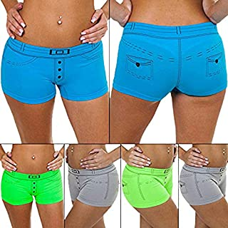 Love My Fashions® Ladies Knickers Pants Womens Denim Causal Cotton Style Underwear Boxer Shorts Summer Size S M L XL