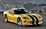 Stickersnews - Sticker Autocollant auto voiture déco murale Viper réf 104 Dimensions - 39x22cm