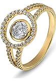 CHRIST Gold Damen-Ring 333er Gelbgold 50 Zirkonia gold, 52 (16.6)