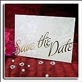 Elfenbeinfarben, Vintage-Blumenmuster Broderie Save the Date Hochzeit Karten Inc Passende Briefumschläge X 10