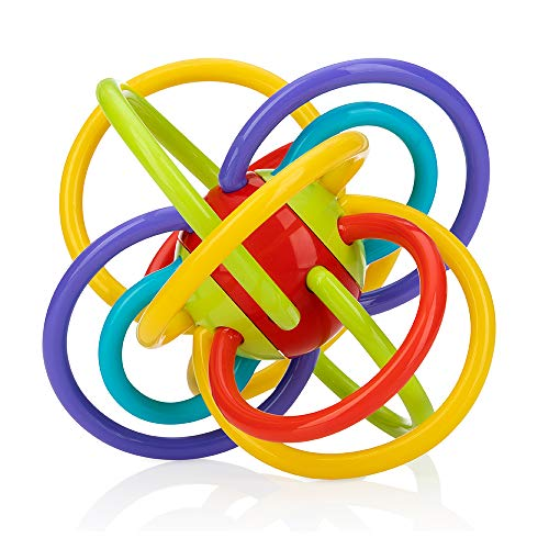Nuby Lots A Loops Teething Ring and Built-in Rattle Toy