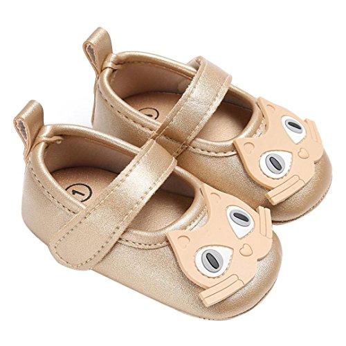 Igemy 1 Paar Baby Säugling Kinder Jungen Mädchen weichen Katze Muster Krippe Kleinkind Neugeborenen Schuhe Gold