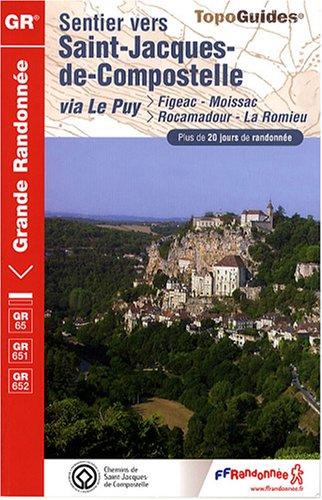 Topo guides : Sentier de Saint-Jacques de Compostelle - Figeac, Moissac, Rocamadour, La Romieu