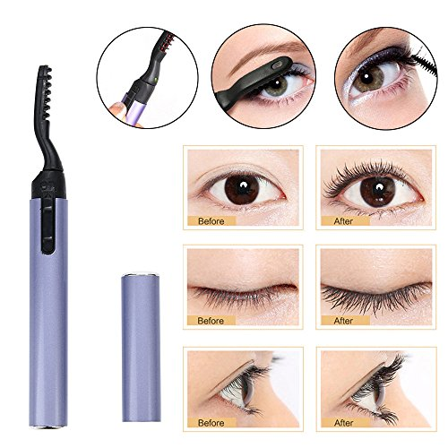 Hupoop Cooler Design Stift elektrisch beheizt Makeup Wimpern lang anhaltende Wimpernzange