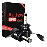 Audew LED COB Auto 8000LM 6000K Faro Bulbi Faro Della Luce Delle Lampadine dell'automobile Kit 9-32V DC H7