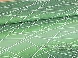 Mamasliebchen Jersey-Stoff Meterware Linien-Muster Grün für Damen Herren Kinder verlaufs-shapelines #Green-Grass (0,5 m x 1,5 m)